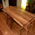 Butcher Block Dining Table with Wood Flooring , 8 Gorgeous Butcher Block Dining Room Table In Dining Room Category