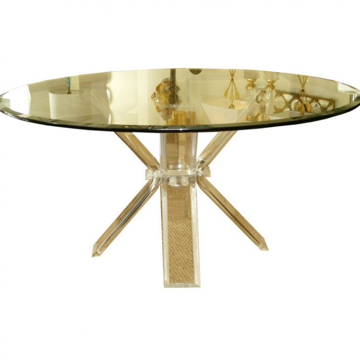 Furniture , 8 Gorgeous Lucite Dining Tables : Butterfly Lucite Dining Table
