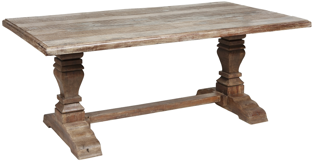 1024x528px 7 Unique Trestle Dining Tables With Reclaimed Wood Picture in Furniture