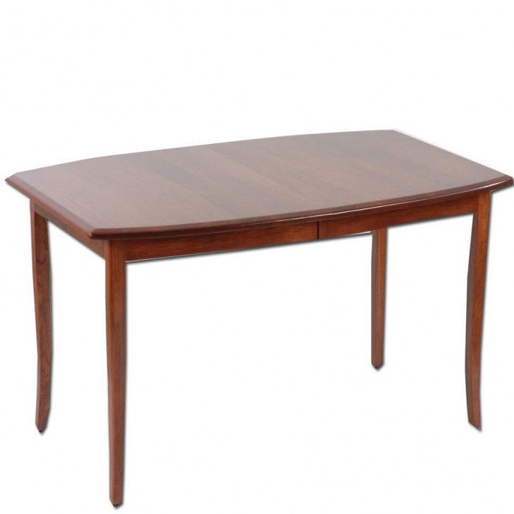 Furniture , 7 Awesome Amish Dining Table : Carlisle Bow Sided Dining Table