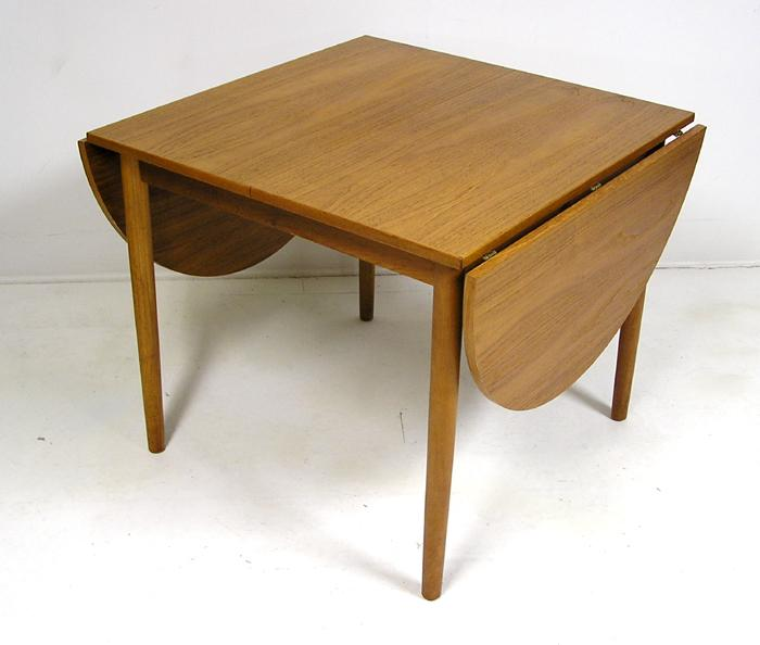 Furniture , 8 Fabulous Drop Leaf Dining Table For Small Spaces : Danish Teak Drop Leaf Dining Tab