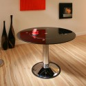 Details about Black Glass , 8 Awesome Round Dining Table With Lazy Susan In Furniture Category