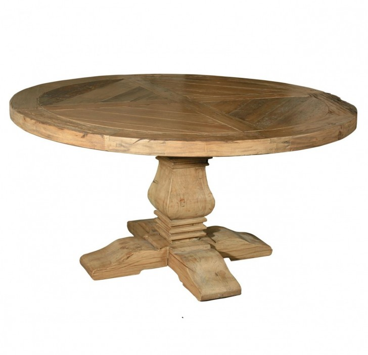 Dining Room , 8 Awesome Reclaimed Wood Round Dining Room Table : Dining Room Pedestal