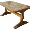 Dining Table in Reclaimed Wood , 7 Unique Trestle Dining Tables With Reclaimed Wood In Furniture Category
