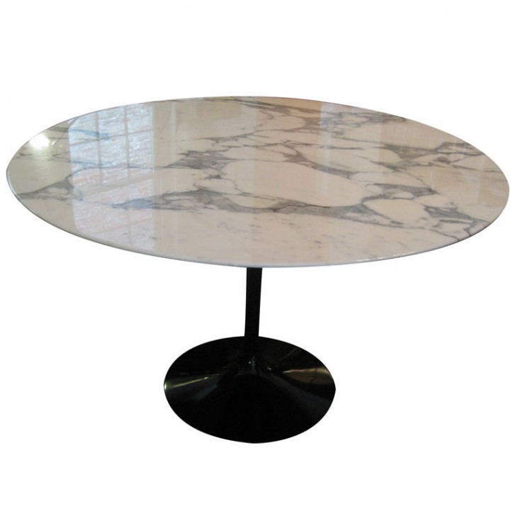 Furniture , 8 Lovely Saarinen Marble Dining Table : Eero Saarinen