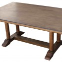Extension Trestle Dining Table , 7 Charming Salvaged Wood Dining Tables In Furniture Category