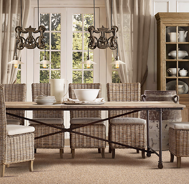 605x590px 5 Top Restoration Hardware Flatiron Dining Table Picture in Dining Room