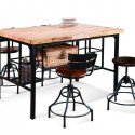 High Butcher Block Dining Table , 8 Fabulous Butcher Block Dining Room Tables In Furniture Category