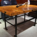Industrial Dining Table , 8 Fabulous Butcher Block Dining Room Tables In Furniture Category