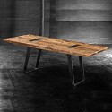 Industrial Reclaimed Wood Dining Table , 8 Nice Salvaged Wood Dining Tables In Furniture Category