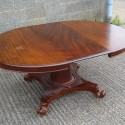 Large Regency Round Extending Pedestal Dining Table , 8 Stunning Extendable Dining Table Seats 10 In Furniture Category