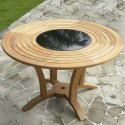 Livina Teak Round Dining Table , 8 Excellent Round Dining Table With Lazy Susan In Furniture Category