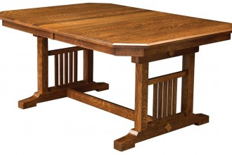 850x522px 8 Stunning Trestle Dining Room Table Picture in Furniture