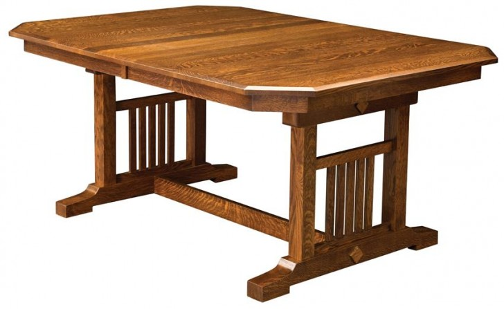 Furniture , 8 Stunning Trestle Dining Room Table : Made Dining Room Table