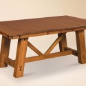Manitoba Trestle Dining Table , 8 Outstanding Trestle Dining Tables In Furniture Category