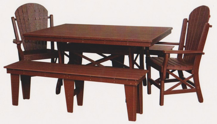 Furniture , 8 Excellent Rectangle Dining Table With Bench : Patio Dining Set