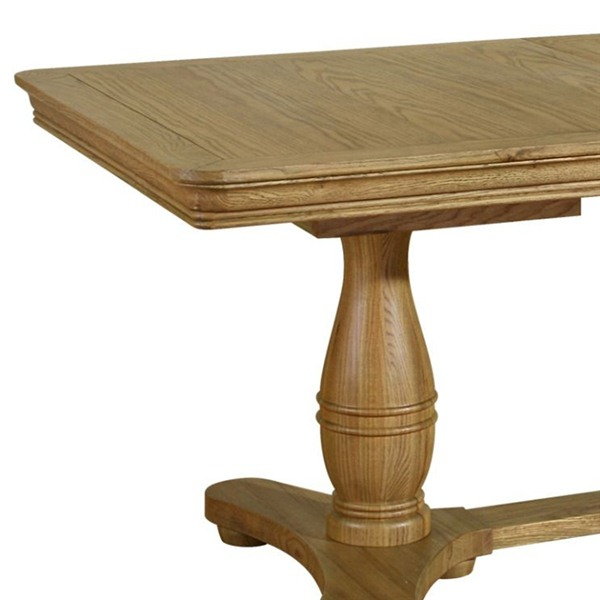 Furniture , 8 Awesome Extending Pedestal Dining Table : Pedestal Extending Table