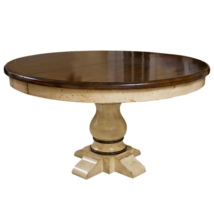 Furniture , 8 Excellent Round Dining Tables With Extensions : Pedestal Round Extension Dining Table