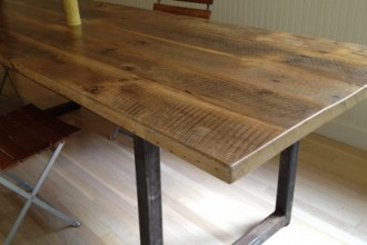 450x351px 8 Good Reclaimed Wood Farmhouse Dining Table Picture in Furniture