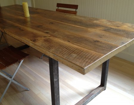 Furniture , 8 Good Reclaimed Wood Farmhouse Dining Table : Reclaimed Wood Dining Table
