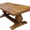 Reclaimed Wood Trestle Dining Table , 7 Charming Salvaged Wood Dining Tables In Furniture Category