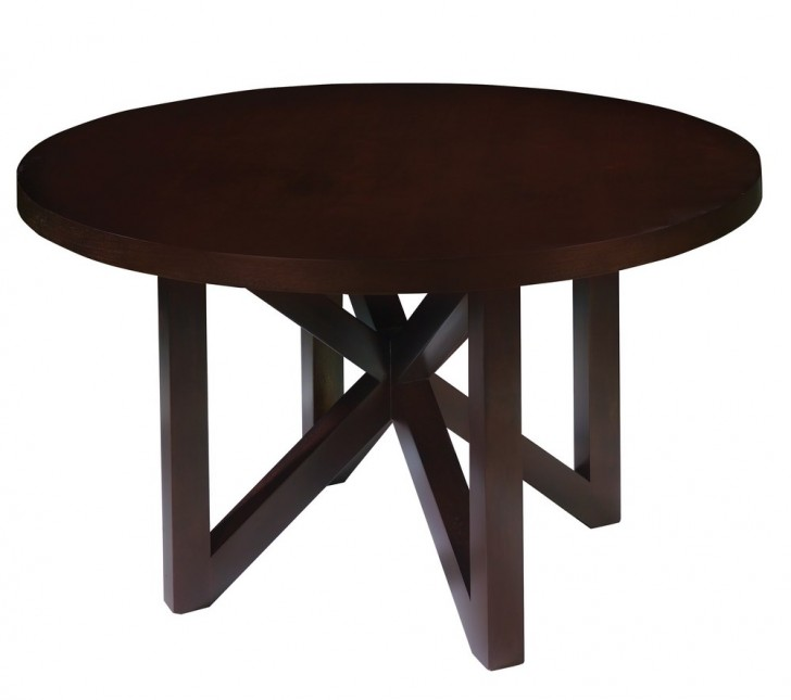 Furniture , 7 Popular 70 Inch Round Dining Table : Round Dining Table in Espresso