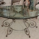 Round Glass Top Dining Table , 7 Excellent Wrought Iron Glass Top Dining Table In Dining Room Category