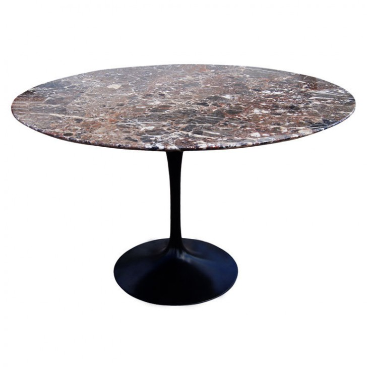 Furniture , 8 Lovely Saarinen Marble Dining Table : Round Marble Dining Table