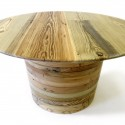 Round Timber Single Table , 8 Awesome Reclaimed Wood Round Dining Room Table In Dining Room Category