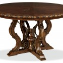 Round Toulon Dining Table , 7 Good Round Pedestal Dining Table With Leaf In Furniture Category