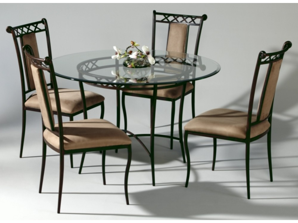 Round Wrought Iron Glass Top Dining Table : 7 Excellent Wrought ...