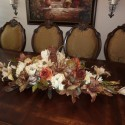 Rustic Dining Room Table , 7 Good Silk Flower Arrangements For Dining Room Table In Apartment Category