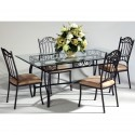 Saarinen Dining Table set , 7 Excellent Wrought Iron Glass Top Dining Table In Dining Room Category