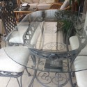 Saarinen Marble Tulip Dining Table , 7 Excellent Wrought Iron Glass Top Dining Table In Dining Room Category