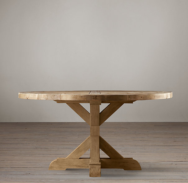 Furniture , 8 Nice Salvaged Wood Dining Tables : Salvaged Wood Base Dining Table