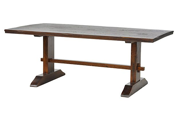 Furniture , 8 Fabulous Sequoia Dining Table : Sequoia Dining Trestle Table