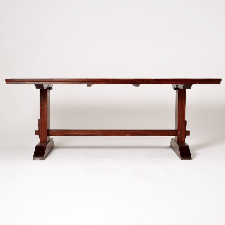 Furniture , 7 Unique Sequoia Dining Table : Sequoia Trestle Dining Table