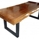 Slab Acacia Wood Dining Table , 7 Charming Acacia Wood Dining Table In Furniture Category