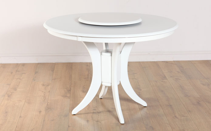 Dining Room , 8 Stunning Dining Room Tables With Lazy Susan : Somerset Round Dining Room