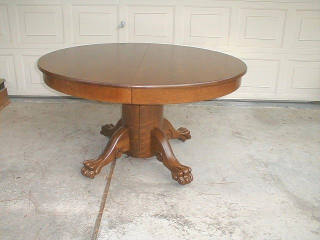 Furniture , 7 Good Round Pedestal Dining Table With Leaf : Split Pedestal Dining Table