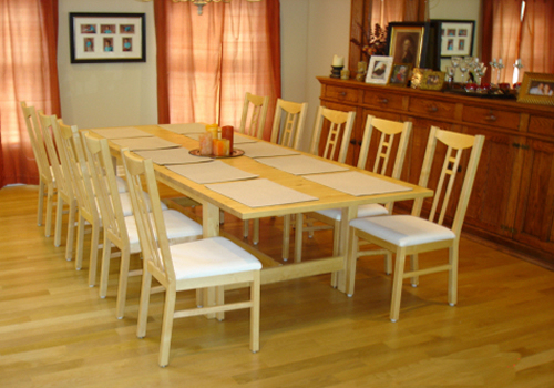 Furniture , 8 Unique  Dining Room Table Extender : Table before an extension pad