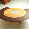 Table with white tiles , 8 Good Round Expandable Dining Table In Furniture Category