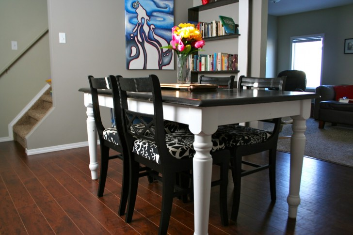 Furniture , 8 Gorgeous Refinishing Dining Table : This entire dining set
