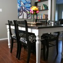 This entire dining set , 8 Nice Refinish Dining Table In Furniture Category