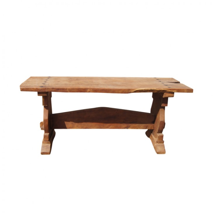 Furniture , 8 Awesome Rustic Trestle Dining Table : Trestle Console Dining Table