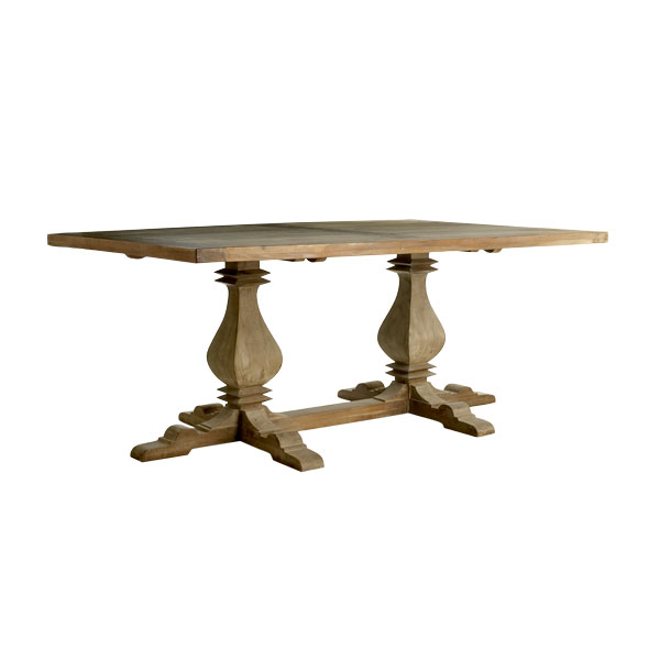 600x600px 9 Unique Distressed Trestle Dining Table Picture in Furniture