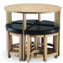 Veneer Stowaway Dining Table , 8 Charming Stowaway Dining Table In Furniture Category
