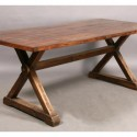 WOOD TOP DINING TABLE , 8 Popular Wood Plank Dining Table In Furniture Category