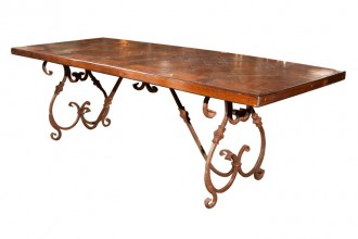 768x768px 8 Nice Wrought Iron Dining Table Bases Picture in Furniture