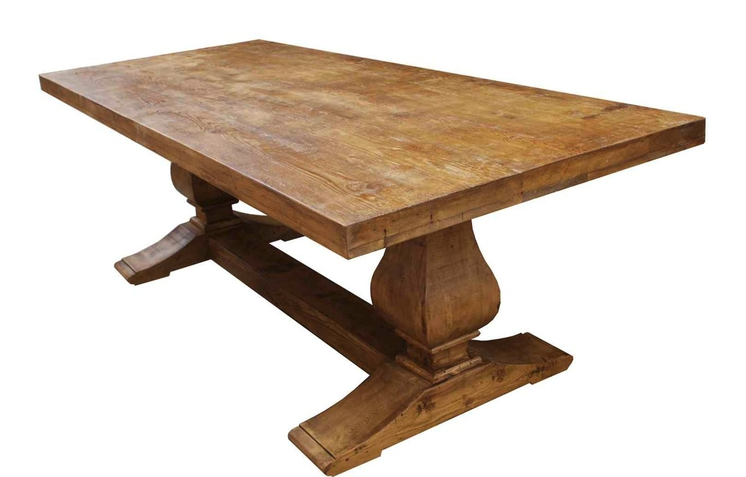 1077x689px 7 Lovely Trestle Dining Tables With Reclaimed Wood Picture in Furniture
